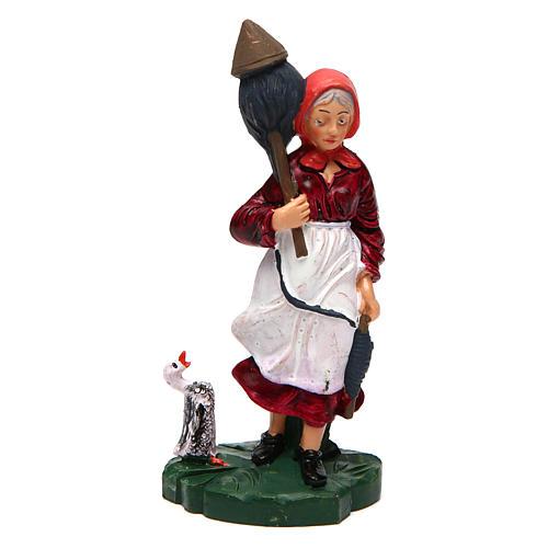 Donna con lana di 10 cm presepe 1