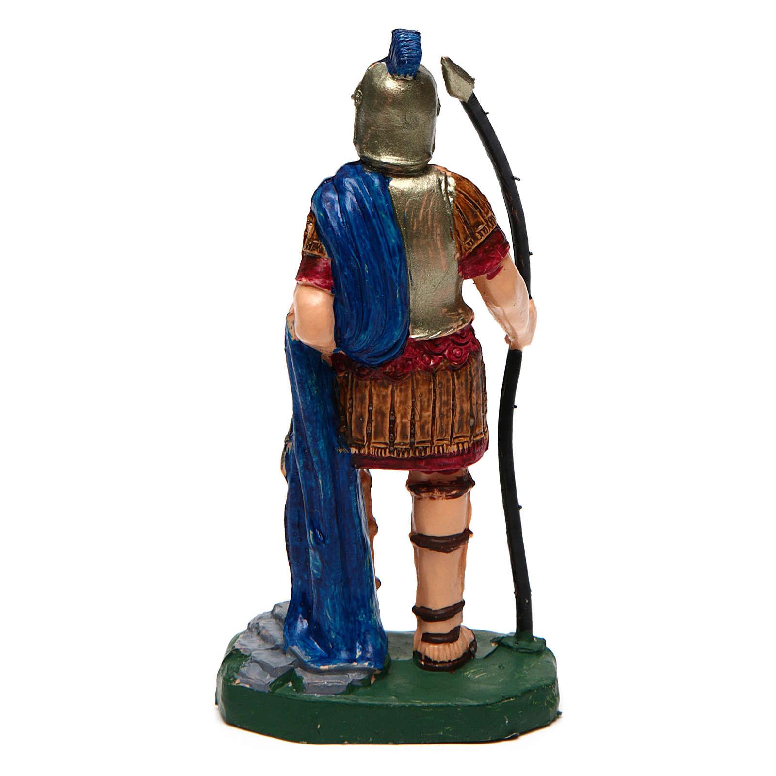 Hombre con lanza para belén de 10 cm de altura media 3