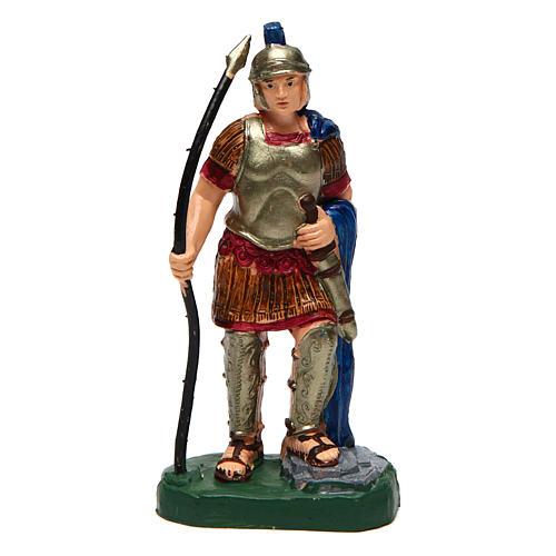 Hombre con lanza para belén de 10 cm de altura media 1