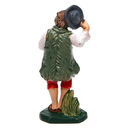 Hombre con sombrero para belén 10 cm de altura media 2
