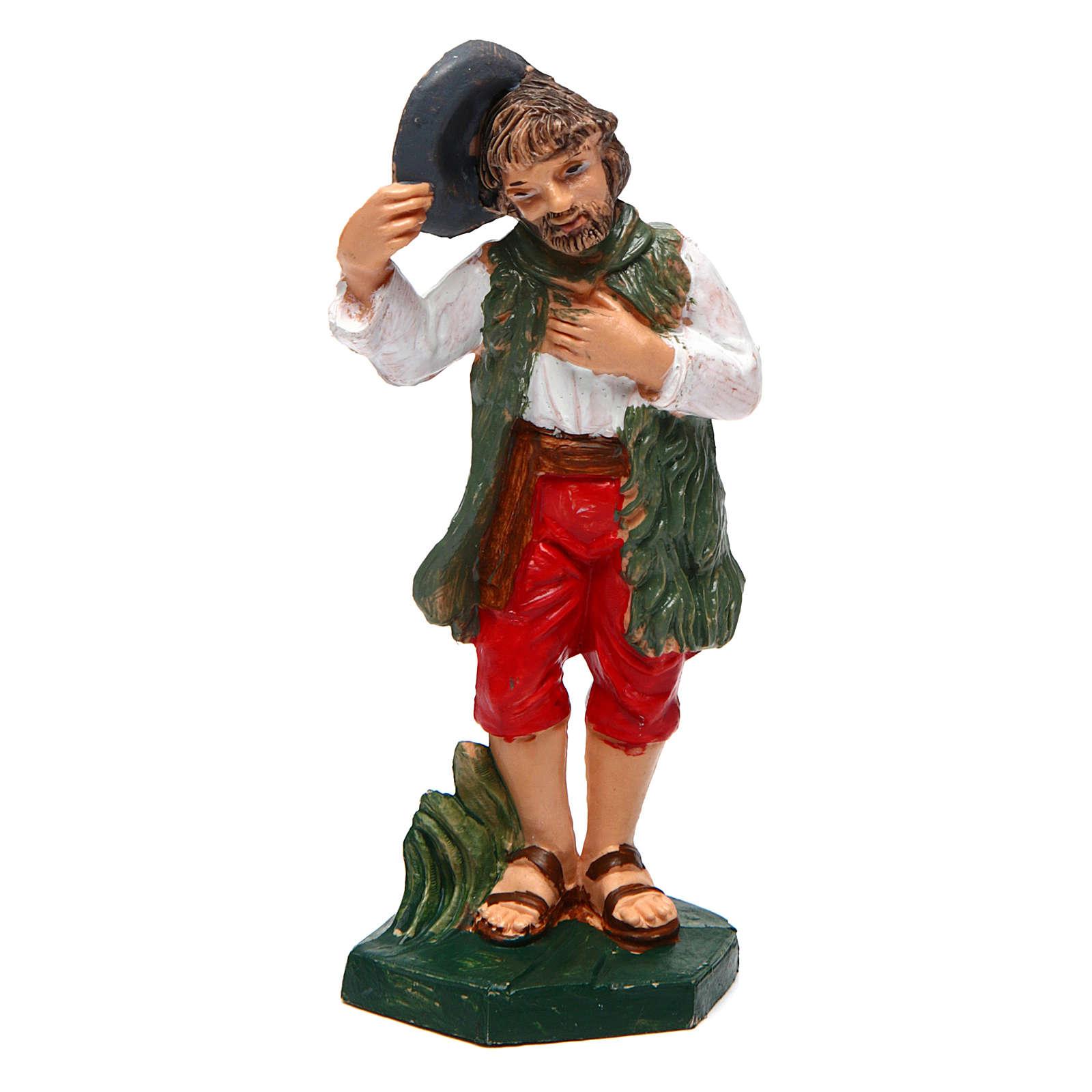 Homme avec chapeau pour crèche 10 cm 3