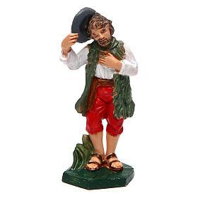 Santons crèche: Homme avec chapeau pour crèche 10 cm
