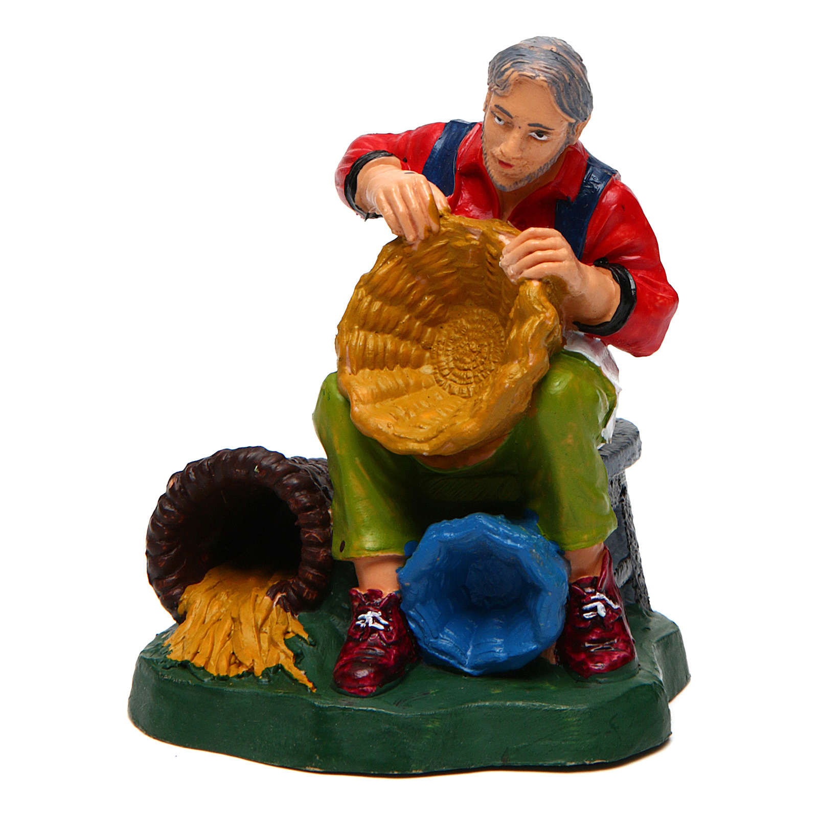 Man with Baskets of 10 cm Nativity 3
