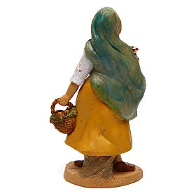 Woman with basket and vase for Nativity Scene 10 cm s2