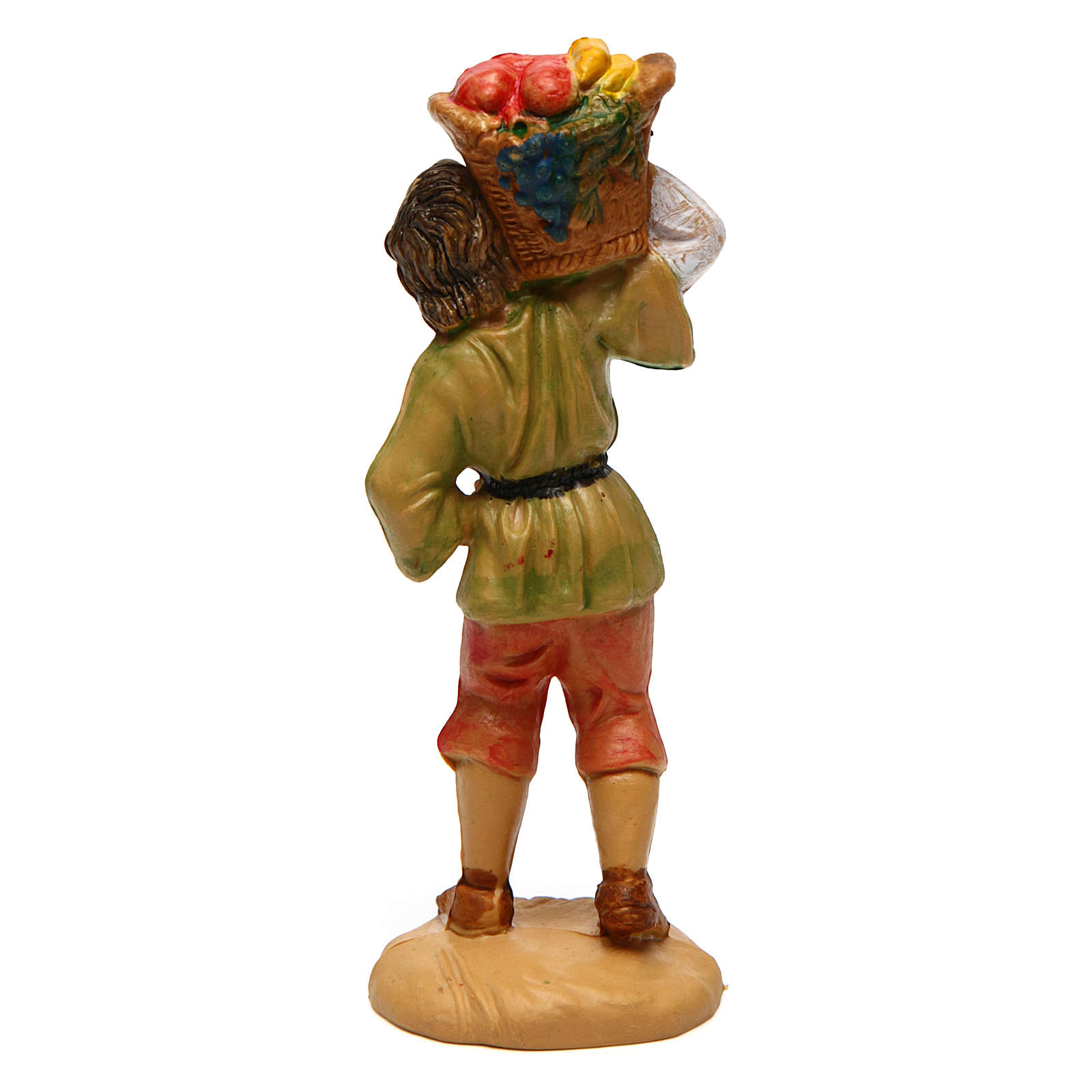 Young Man with Fruit Basket for 10 cm nativity 3