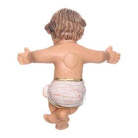 Gesù bambino nella culla per presepe di 10 cm  s4
