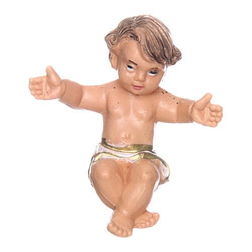 Gesù bambino nella culla per presepe di 10 cm  2