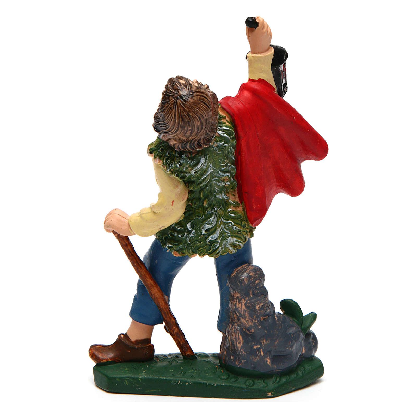 Boy with lantern for Nativity Scene 10 cm 3