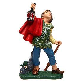 Figuras de Presépio: Rapaz com lanterna e bastão de 10 cm pvc presépio