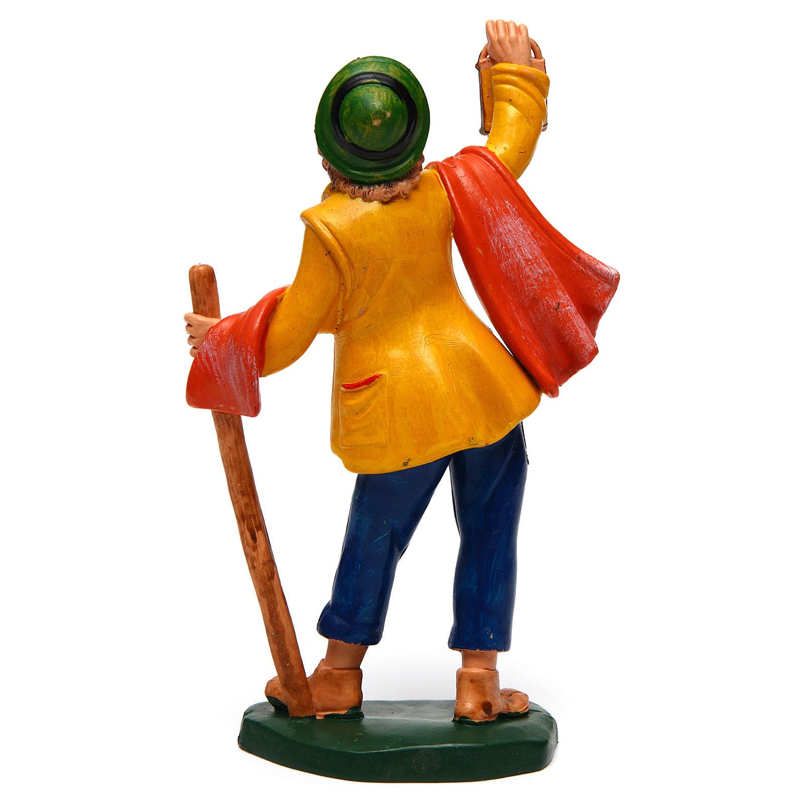 Uomo con lanterna di 16 cm presepe 3