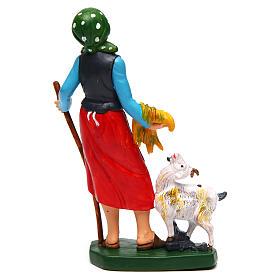 Donna con pecora di 16 cm presepe s2