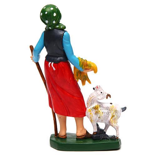 Donna con pecora di 16 cm presepe 2