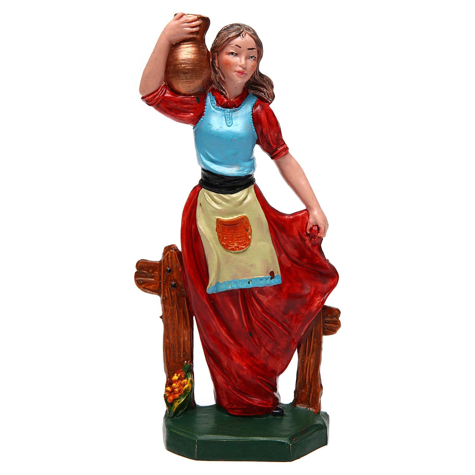 Donna con vaso di 16 cm presepe 3