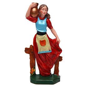Donna con vaso di 16 cm presepe s1