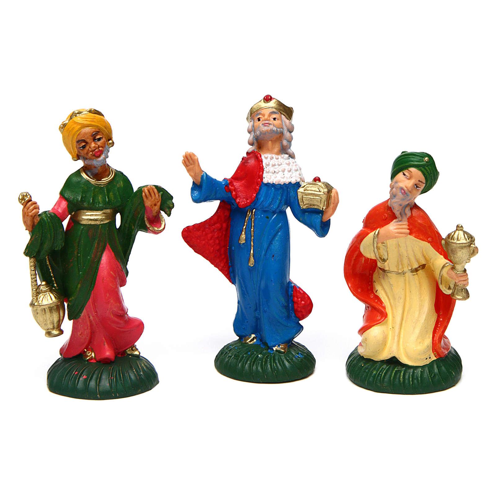 Complete Nativity Set 9 pcs of 6 cm PVC 4