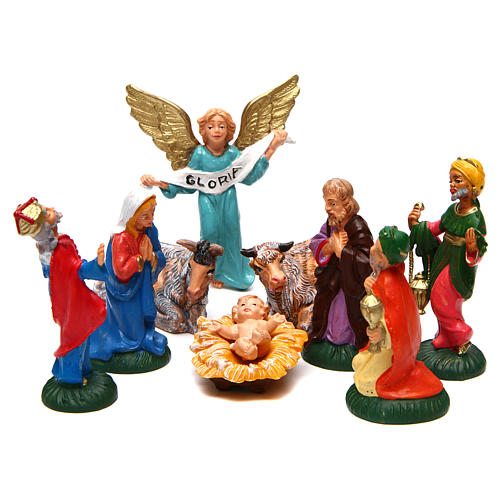 Complete Nativity Set 9 pcs of 6 cm PVC 1