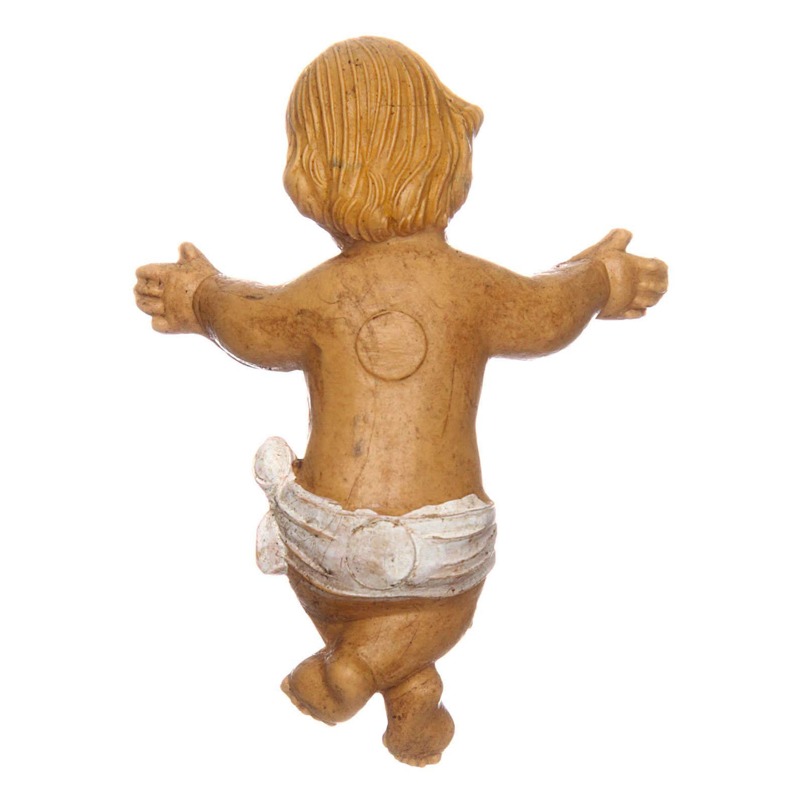 Gesù Bambino con culla per presepe 12 cm 3