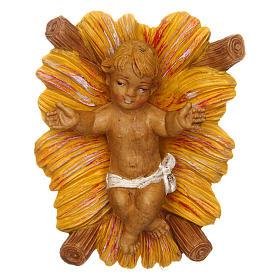 Gesù Bambino con culla per presepe 12 cm s1