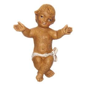 Gesù Bambino con culla per presepe 12 cm s2