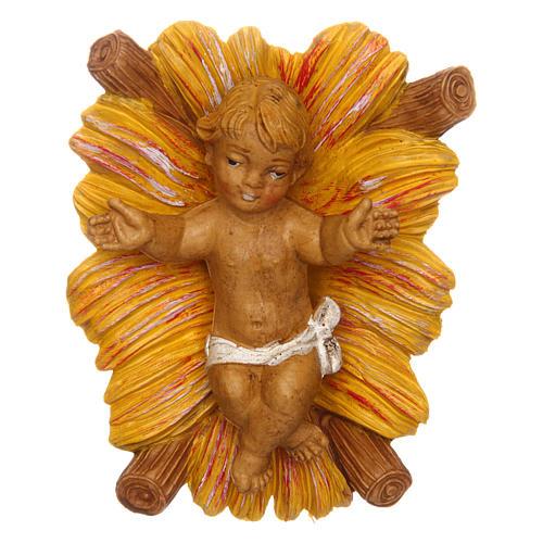 Gesù Bambino con culla per presepe 12 cm 1
