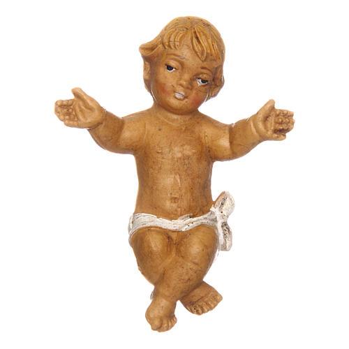 Gesù Bambino con culla per presepe 12 cm 2