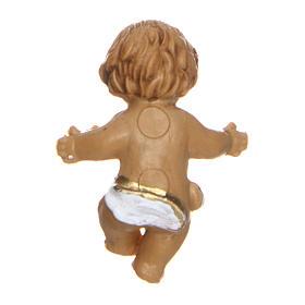 Enfant Jésus regardant à gauche pour crèche 3 cm s2