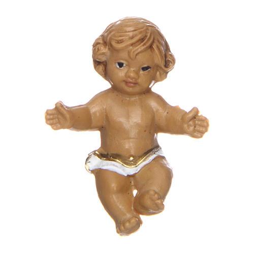 Enfant Jésus regardant à gauche pour crèche 3 cm 1