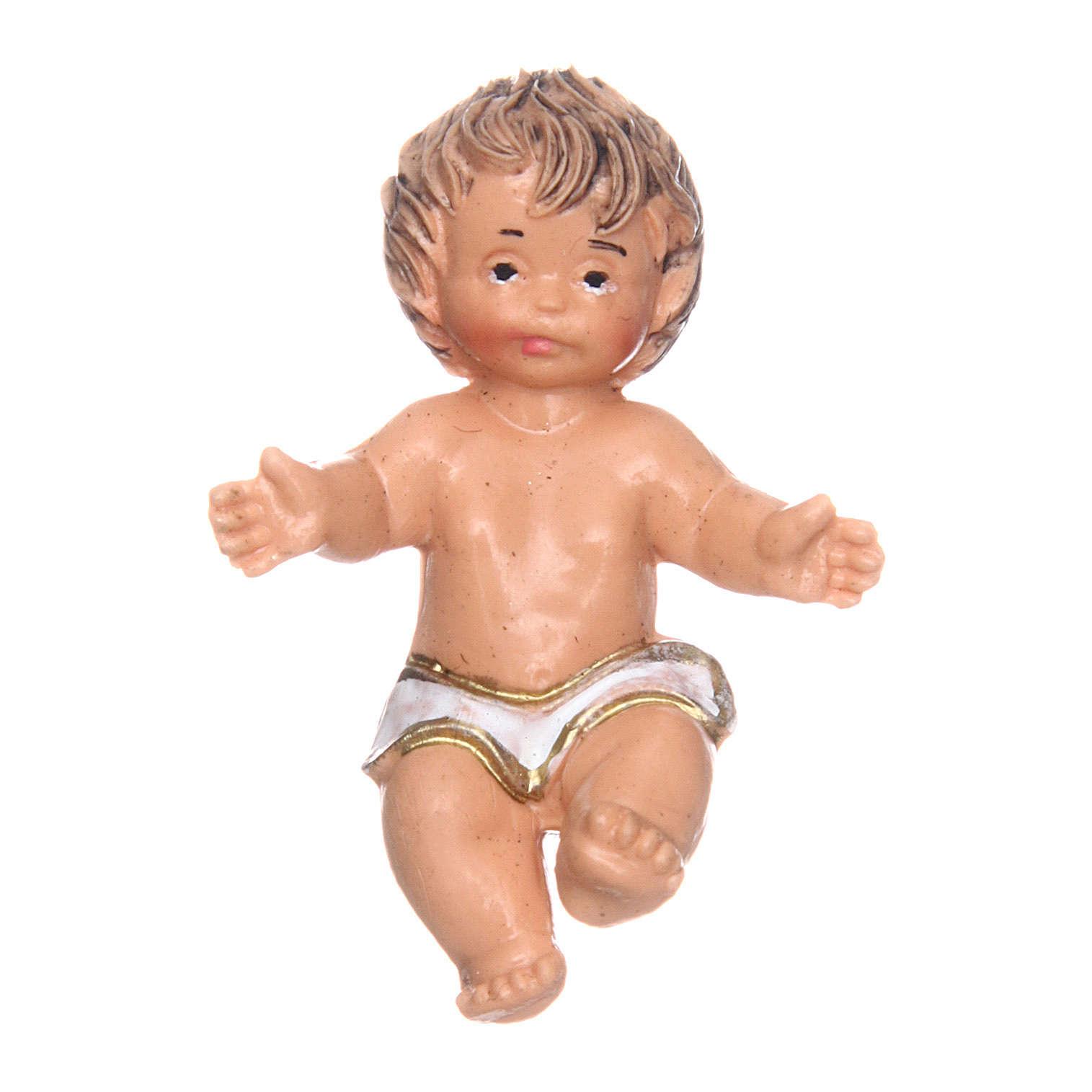 Enfant Jésus avec pagne pour crèche 3,5 cm 3