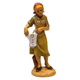Mujer que tende para belén 12 cm de altura media s1