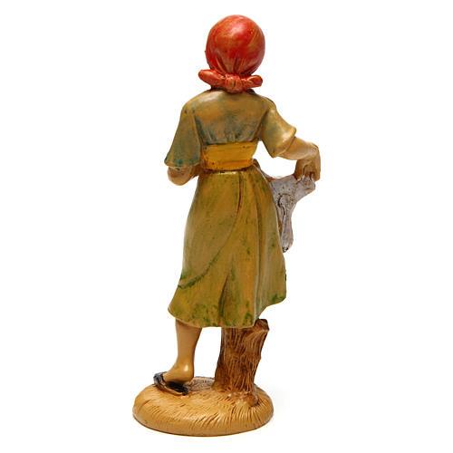 Mujer que tende para belén 12 cm de altura media 2
