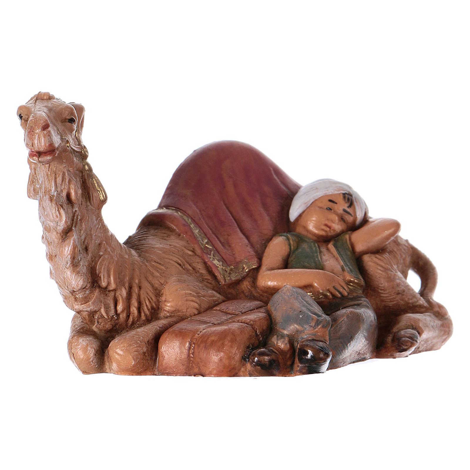Rapaz com camelo para Presépio Fontanini com figuras de altura média 6,5 cm 4