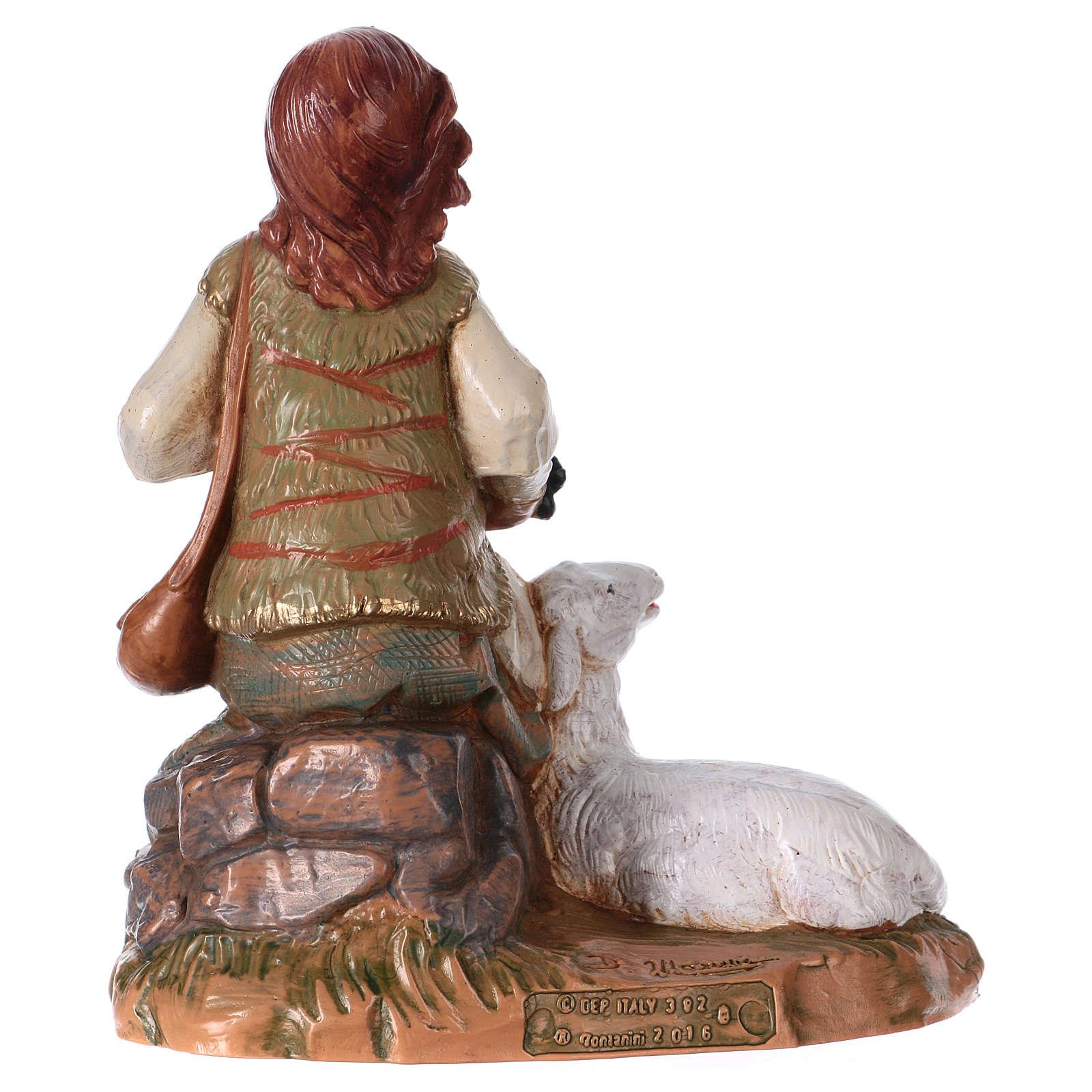Bergère avec moutons Fontanini crèche 19 cm 4