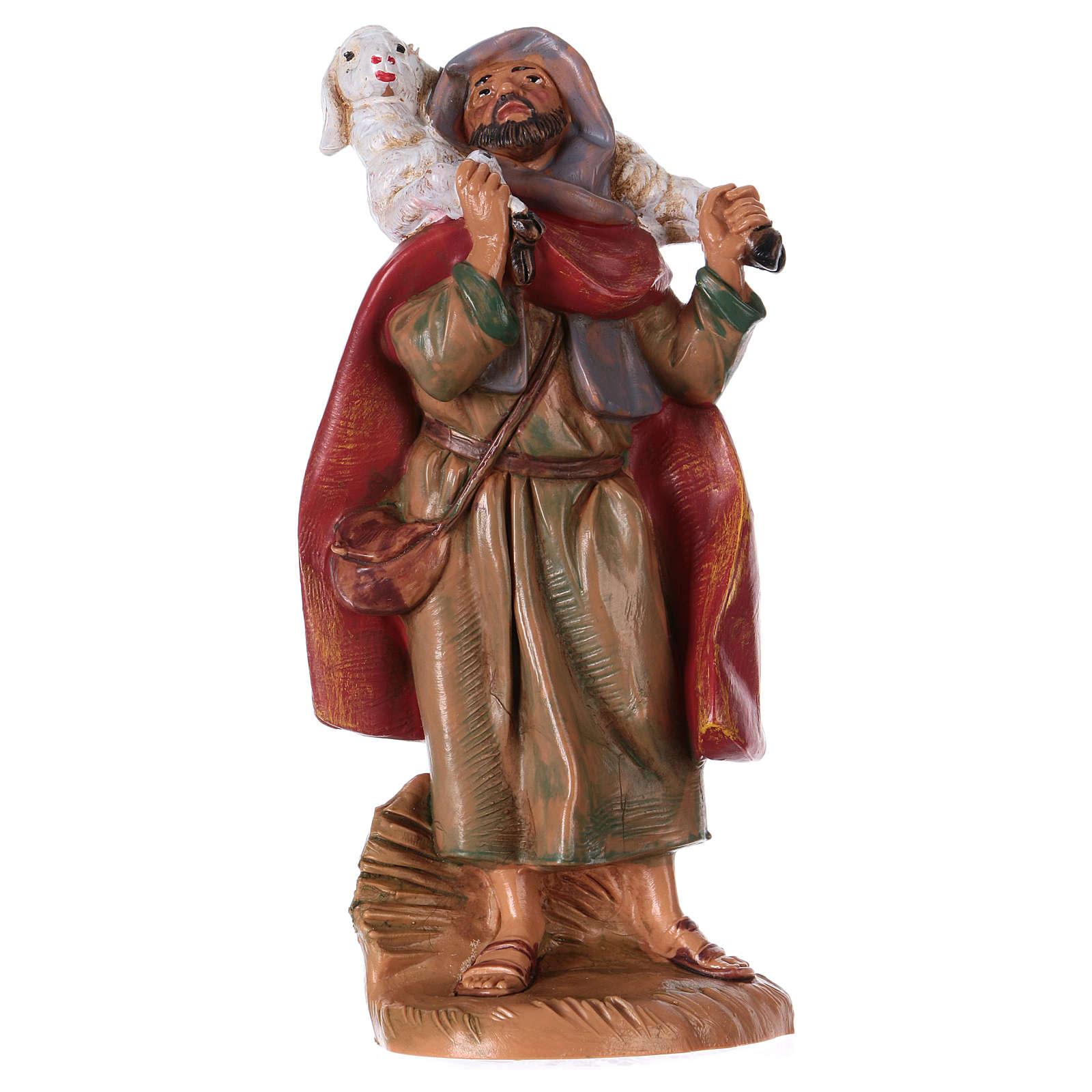 Pastor con oveja sobre las espaldas 12 cm de altura media Fontanini 4