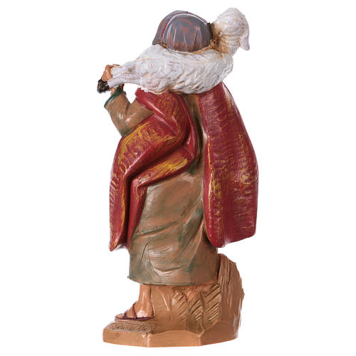 Pastor con oveja sobre las espaldas 12 cm de altura media Fontanini 2