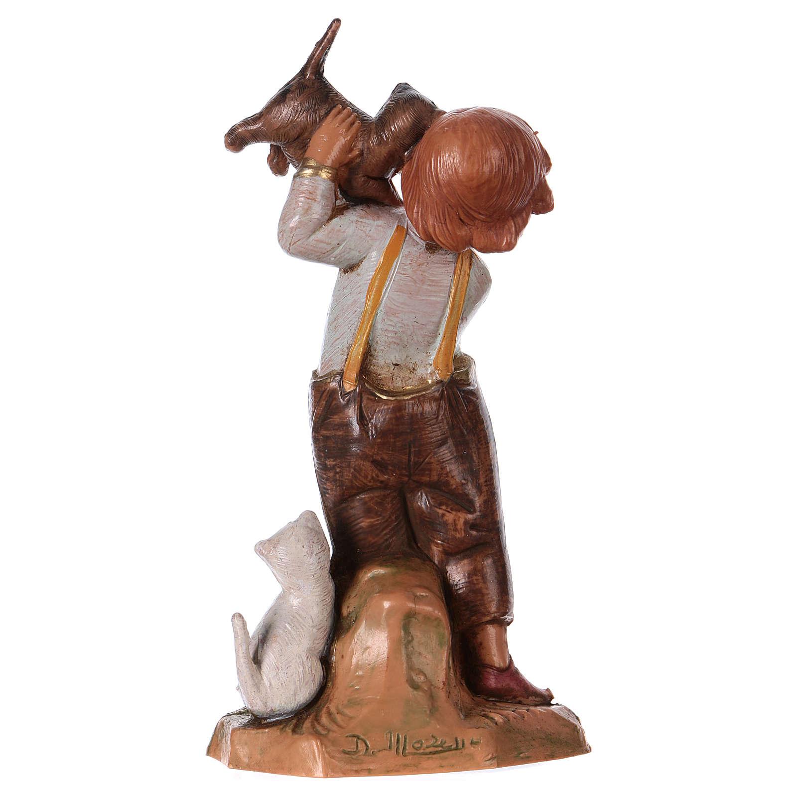 Chłopczyk z kotem 12 cm Fontanini 4