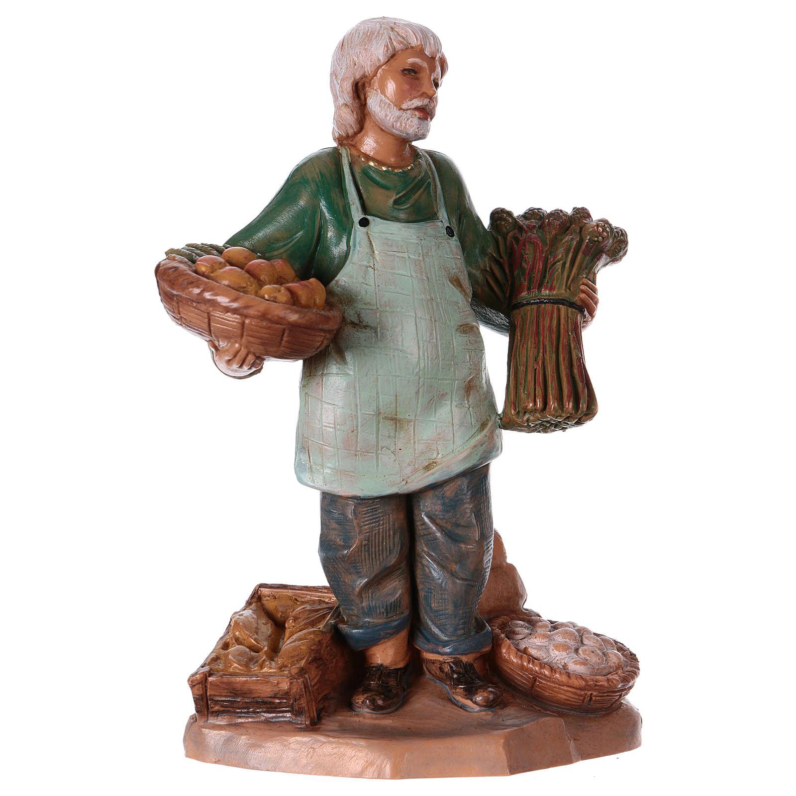 Commerciante di verdure presepe 12 cm Fontanini 4