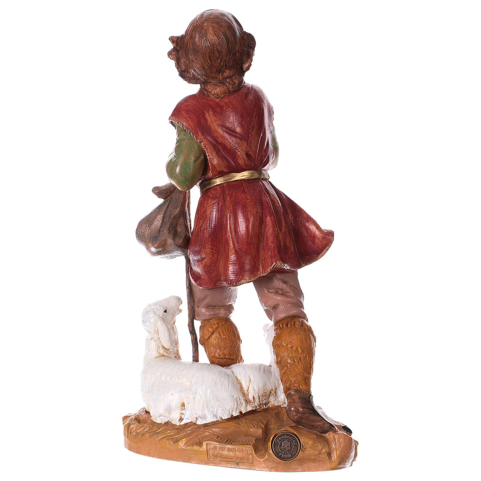 Chłopiec z laską i owcą 30 cm Fontanini 4