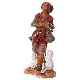 Chłopiec z laską i owcą 30 cm Fontanini s3