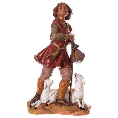 Chłopiec z laską i owcą 30 cm Fontanini 1