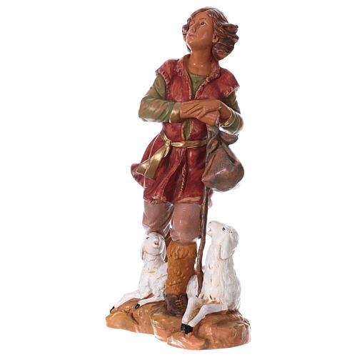 Chłopiec z laską i owcą 30 cm Fontanini 3