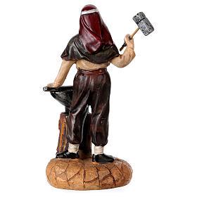 Blacksmith with anvil for 12 cm Nativity Scene, Landi line s3