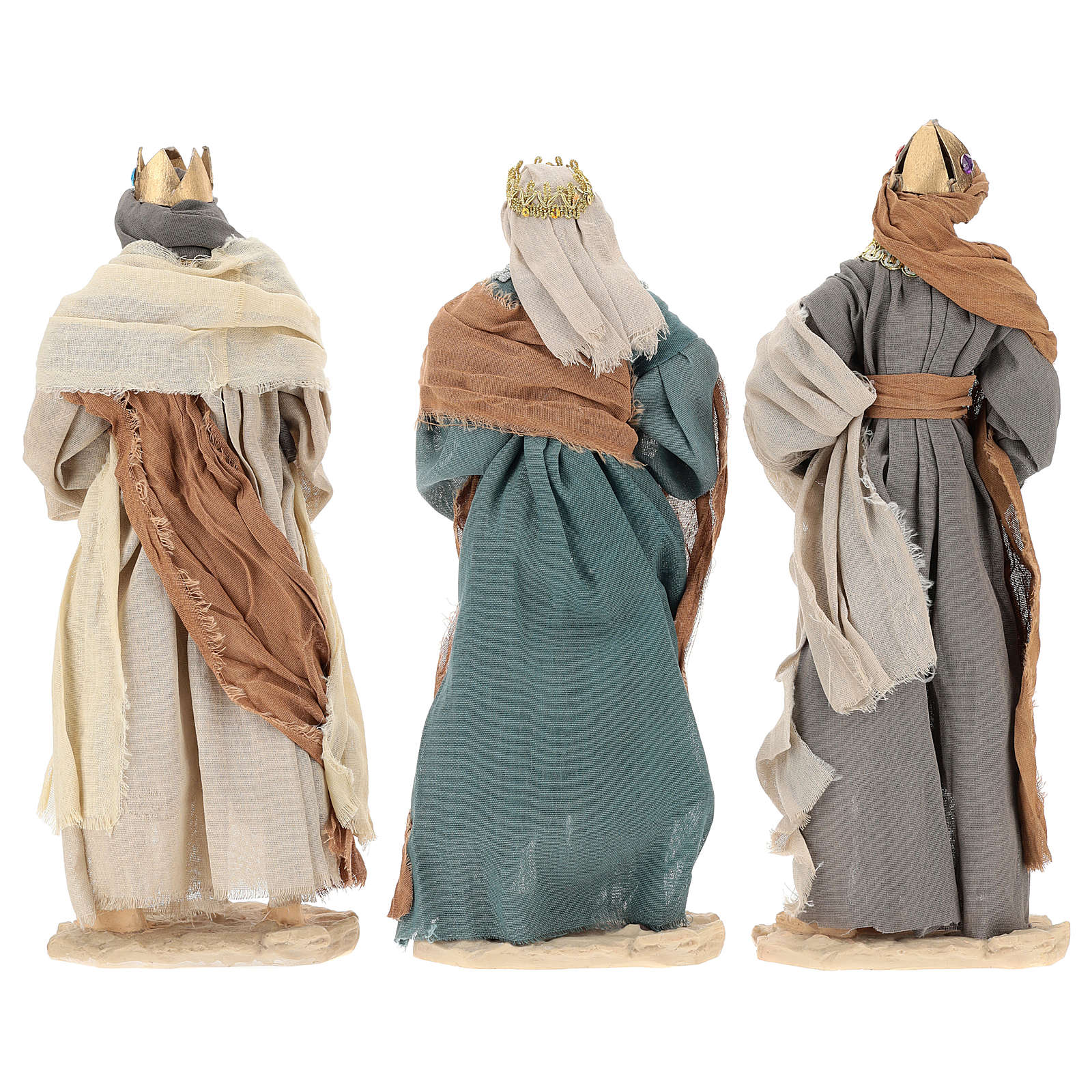 Three Wise Men 35 cm in resin Shabby Chic style 3