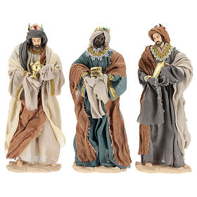 Three Wise Men 35 cm in resin Shabby Chic style s1