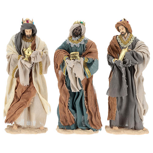 Three Wise Men 35 cm in resin Shabby Chic style 1