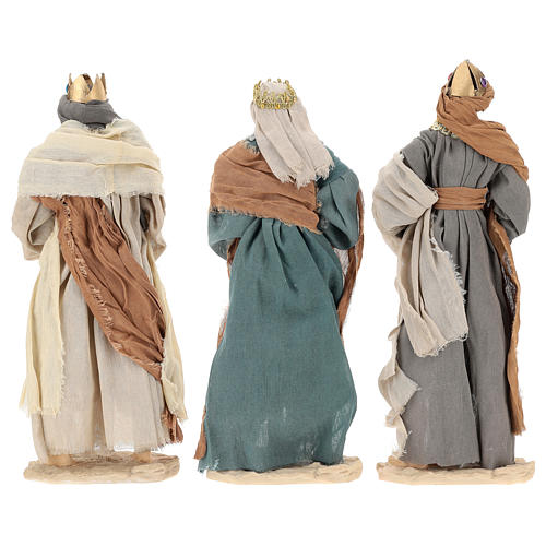 Three Wise Men 35 cm in resin Shabby Chic style 5