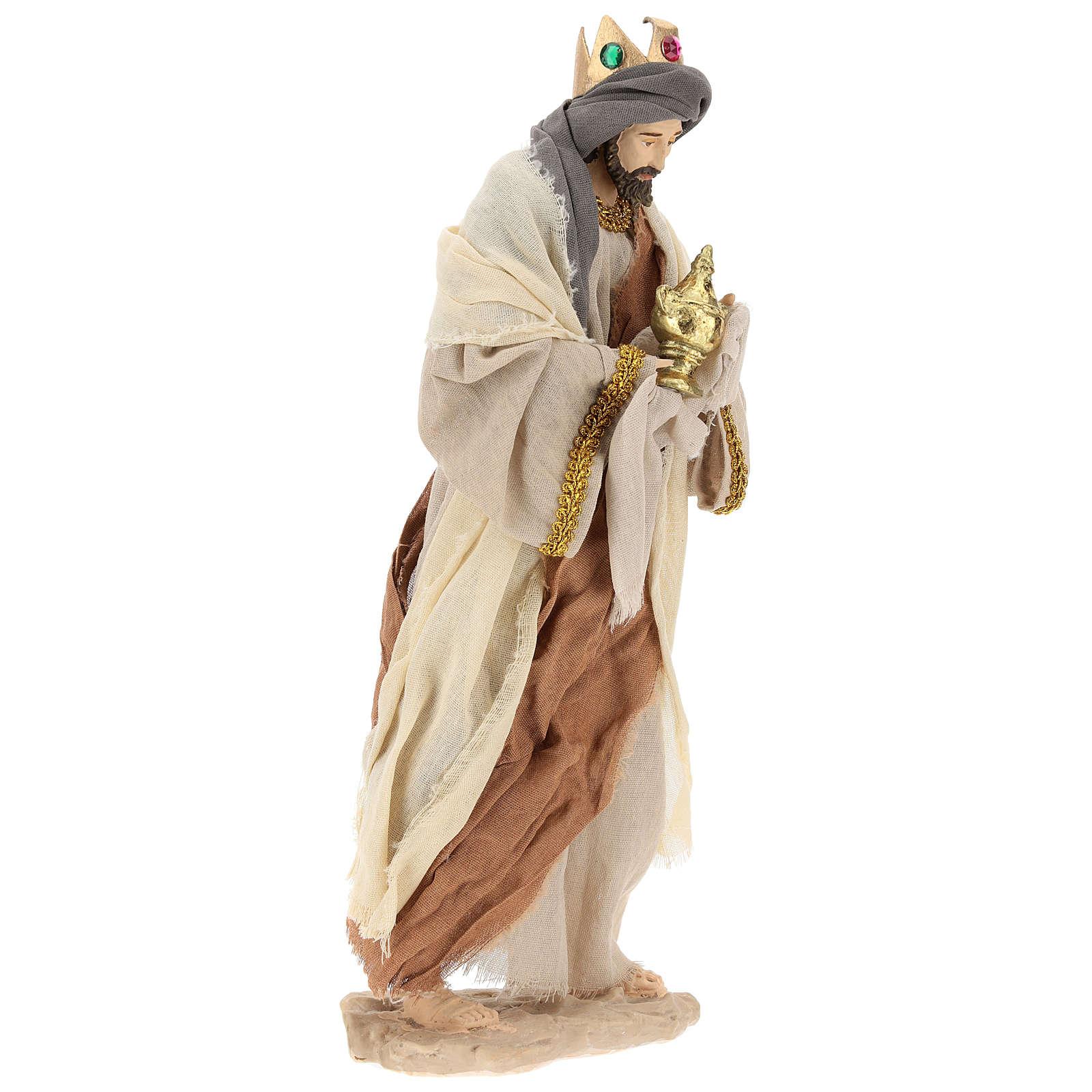 Reyes Magos h 35 cm resina estilo Shabby Chic 3
