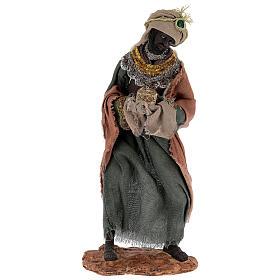 Reyes Magos h 35 cm resina estilo Shabby Chic s4