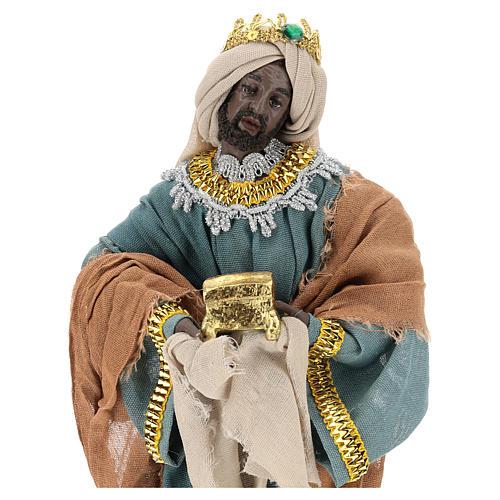 Reyes Magos h 35 cm resina estilo Shabby Chic 2