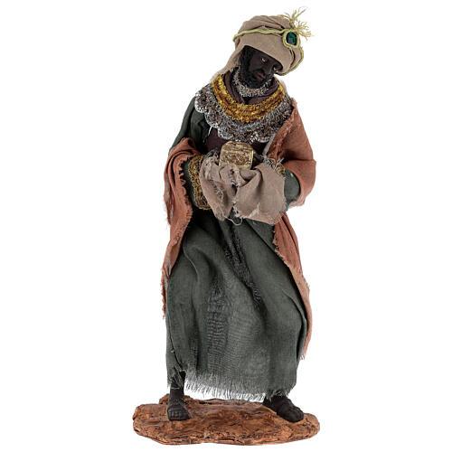 Reyes Magos h 35 cm resina estilo Shabby Chic 4