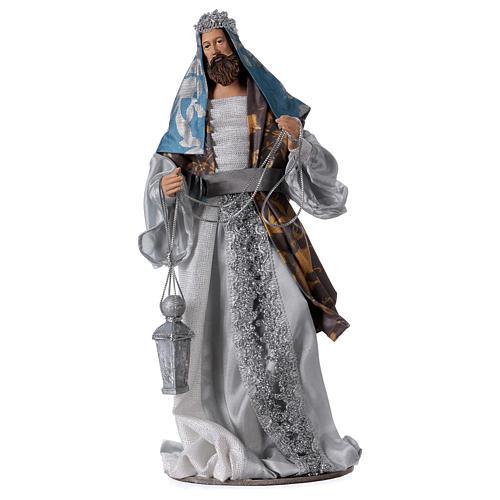 Reyes Magos resina h 32 vestidos azules estilo Shabby Chic 3